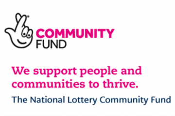 Picture shows Community Fund logo and the words We support people and communities to thrive. The National Lottery Community Fund.