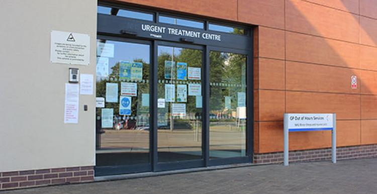 Picture of entrance to Peterborough Urgent Treatment Centre