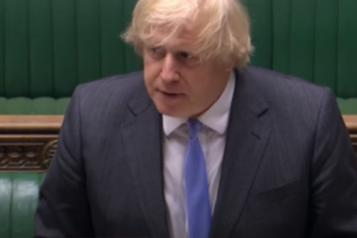 Prime Minister Boris Johnson addresses MPs