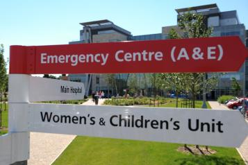 Emergency department at Peterborough City Hospital