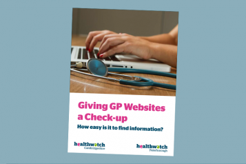 Cover of Healthwatch report