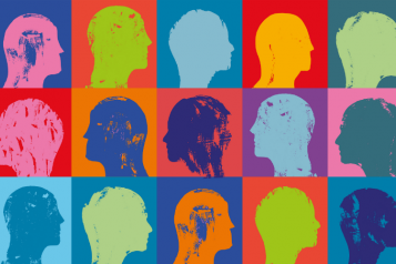 graphic showing people's heads in profile