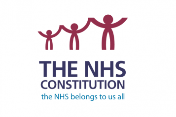 graphic illustrating NHS Constitution