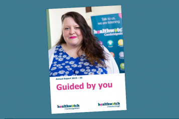 image showing cover of Healthwatch annual report