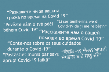 Covid-19 coronavirus survey in different languages