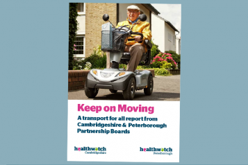 Picture shows cover of Keep on Moving transport for all report
