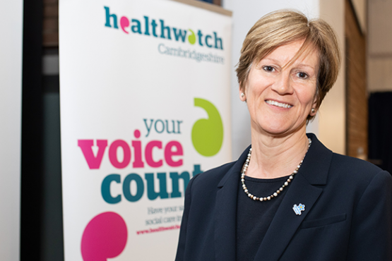 Healthwatch Chair Val Moore