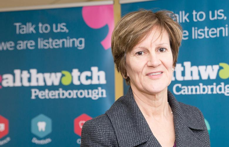 Val Moore chair of  Healthwatch Cambridgeshire and Peterborough