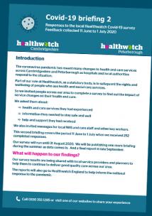healthwatch peterborough covid-19 briefing 2
